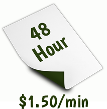 48 Hour Transcription Service (2 days).